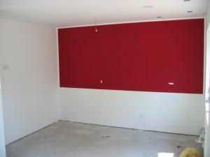 farbige Küchenwand